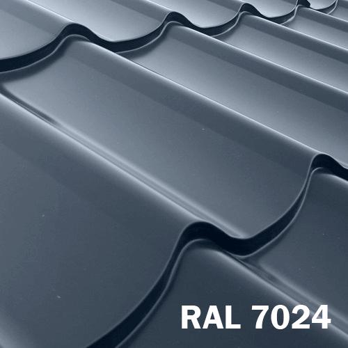 Металлочерепица RAL 7024