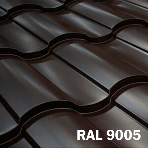 Металлочерепица Valencia RAL 9005