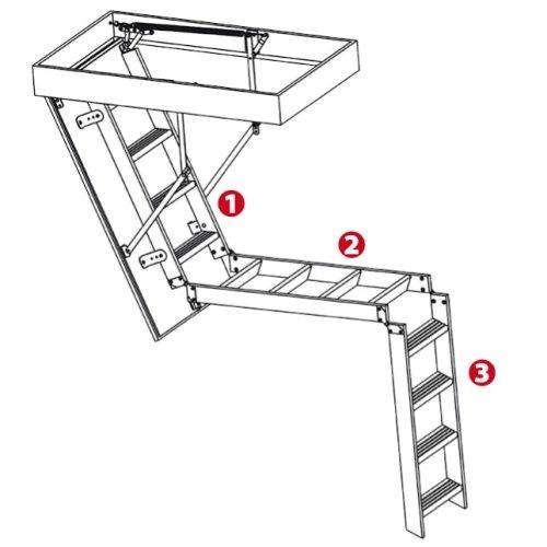 Чердачная лестница Oman Aluprofi Extra секционная