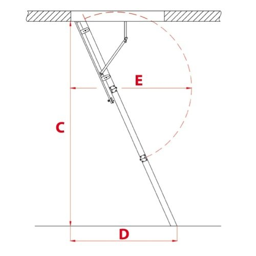 Чердачная лестница Oman Aluprofi Extra характеристики и параметры