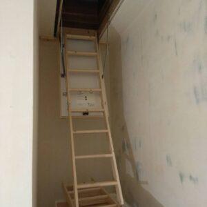 Измерение размера лестницы