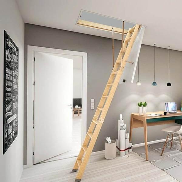 Как определить положение лестницы на чердаке