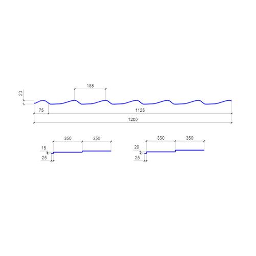 Размеры металлочерепицы ATLANTA (АТЛАНТА)